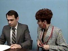 Old manager at desk job getting a deepthroat job