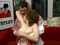 Chubby brunette assistant gets laid with cocky Arab guy