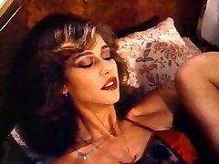 Retro Classical - Lady in Satin Lingerie Pleasuring Herself