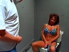 Big tit swimsuit ditzy sextsar Leanna bathroom fuck