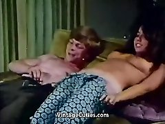 Youthfull Couple Boinks at House Party (1970s Vintage)