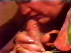 Retro Cumshot Fills Her Throat With Jizm Till It Flows Back Out