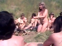 Vintage clip of  friends who get nude in public
