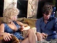 Blondie in lingerie gets cum splash