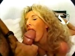 Classic Blonde Busty Cougar Plowing in High Heels