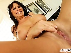 Mandy lose some weight and is looking highly steamy. She makes her way to MILFThing in a black obession sundress. This video is historic from crazy fisting to double vaginal  squirting and more