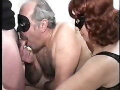 old couple with bisex youthfull male, mmmm, vintage