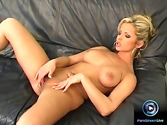 Danielle strips naked exposing her huge tits and fresh cunt