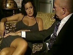 Vintage porn video with threeway sex