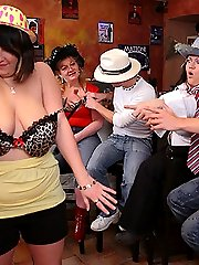 The wild BBW orgy has dancing fatties, tit sucking, and good pussy pounding action