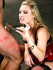 If you do not like to see gorgeous females beat the shit out of arrogant men, then this shoot is not for you.  Harmony and Euro have a turbulent history.  He is a little bastard and she is a domineering bitch.  They really are a lovely couple.  That is, if you like pain,  degradation, control and humiliation.