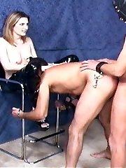 Mistress Lia forced bi video samples