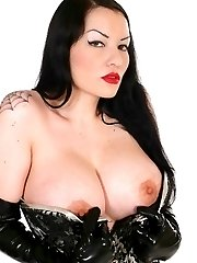 Huge titted kinky latex slut