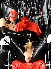 Rubber forced peeing