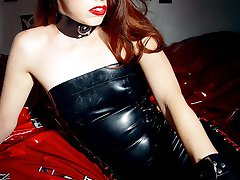 auburn beauty tightlaced stripped and restrained