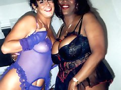 Patsy loves to wear sexy red low cut lingerie that shows off her large black boobies. At 45...