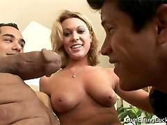 The cat was out of the bag Ashleys husband could smell the strange cock all over her pussy and...