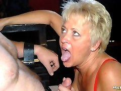 "Tracy straps a site member to her ""Bad Boy Chair"" then proceeds to give him the punishment he deserves."