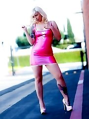 Lynn Latex Pink Dress