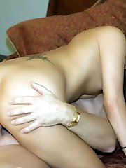 Horny amateur Autummn Skyes expertly sucks a cock and got her shaved cooter plowed in this porn...