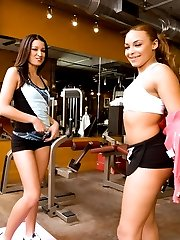 See these two delicious asses getting sweaty and working their asses, they slam their pussies and ride it hardcore.