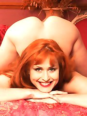Sizzling Russian redhead with a perfect 10 ass
