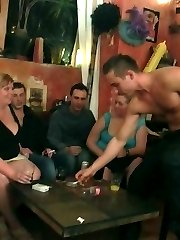 Incredible BBW sex as the chicks get naked and do it all in the pub with wet pussies all over