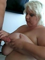 The hooker is fat, sexy, and ready for the young man to bend her over and take her deep
