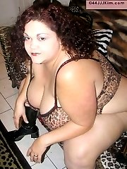 Sheer teddy can not hide the curves on this BBW