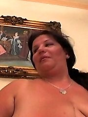 Plus-size with Huge Tits Goes After Cock