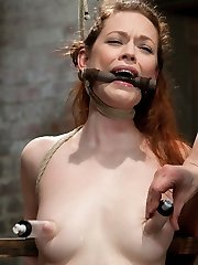 Famous porn starlet Justine Joli with creamy skin and fiery red hair gets served up fresh today,...
