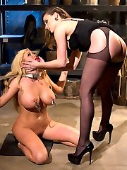 I don't know about you but there is nothing I like more than destroying a beautiful blonde bombshell! Summer Brielle is not only hot but she genuinely loves BDSM, it makes her insanely horny! Watch this gorgeous woman suffer beautifully at the hands of Chanel Preston and see her pussy get off from the punishment!