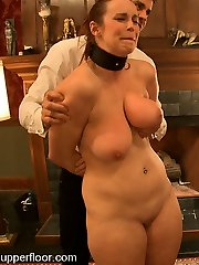 Mansion Gimp Bella Rossi is presented to the Upper Floor protocols and procedures in her first day of official service.