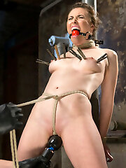 Casey is seasoned vet when it comes to Bdsm. She does this in her personal life and it makes for a finer than average shoot because of it. She is tough as nails and we put her in some of the most tiring bondage on the planet. She endures thru grueling predicaments, a single point waist suspension, brutal crotch rope, and non stop brutality with evil tormenting punishment.