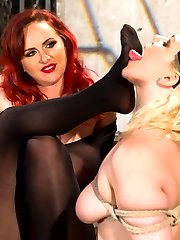 Mz Berlin dominates two large breasted submissives. Lylith Lavey is new to BDSM and looking to...