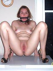 female bondage and tit clamps