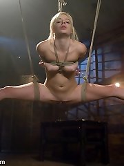 Nineteen year old Ally Ann is a harsh lil' cookie. She likes brutish fuckfest and can do hard bondage positions like a full split suspension. James Deen is great at being raunchy with her and staying in complete control. Super-steamy tiny Ally gets punished and drilled good in some rock hard bondage for your viewing sensation.