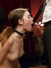 Founding Mansion Victim Sarah Shevon comes back to the Upper Floor to initiate newcomer Jodi Taylor. Strict discipline and hard anal romping inspire the crowd to initiate their own BDSM and fuck-a-thon scenes as the Building marionette's drama plays out.