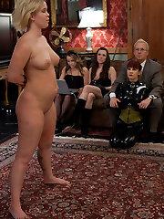 Slave Trainers work in the basement to train intercourse slut Sasha Knox