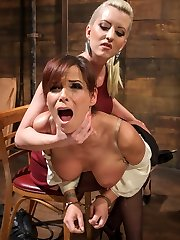 MILF reference librarian, Syren De Mer is nothing but helpful to student Cherry Torn when shes...