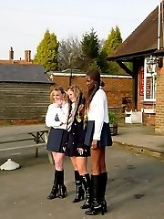 Chubby school girl caned to tears on her big wobbly bottom