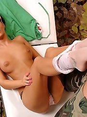 Nurse Angelica gives a foot wank