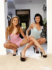 Ava Rose and Mia Rose join each other for a photo shoot and show off their sexy legs