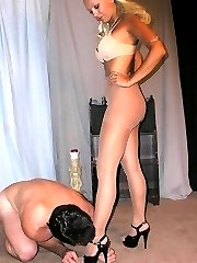 Spanked by blonde domme