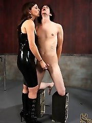 Miss Olive isnt convinced that her slave, deviant kade, is happy to see her. So she decides to...