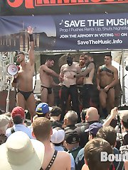 Folsom Street Fair 2015 roars with full force, as thousands of people watch Cass Bolton used and...