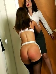 Naughty Mary makes Miss Abi sit on the sybian