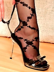 Angel in black pattern Stockings