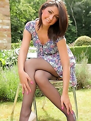 Bryoni-Kate looks sensational in her summer dress and white heels.