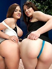Sarah Shevon and Krissy Lynn do a passionate and supercharged scene with lots of heavy anal...